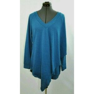 Soft Surroundings Womens Sweater Pullover Blue